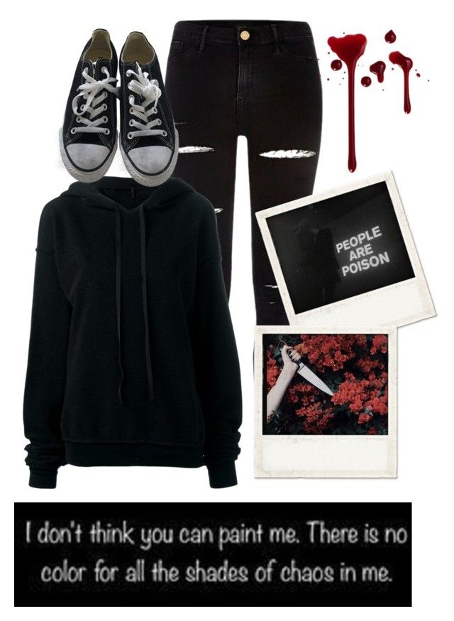 """""""Demon!Ally"""" by fabulously-awesome7 ❤ liked on Polyvore featuring River Island, Unravel, Converse and Polaroid"""