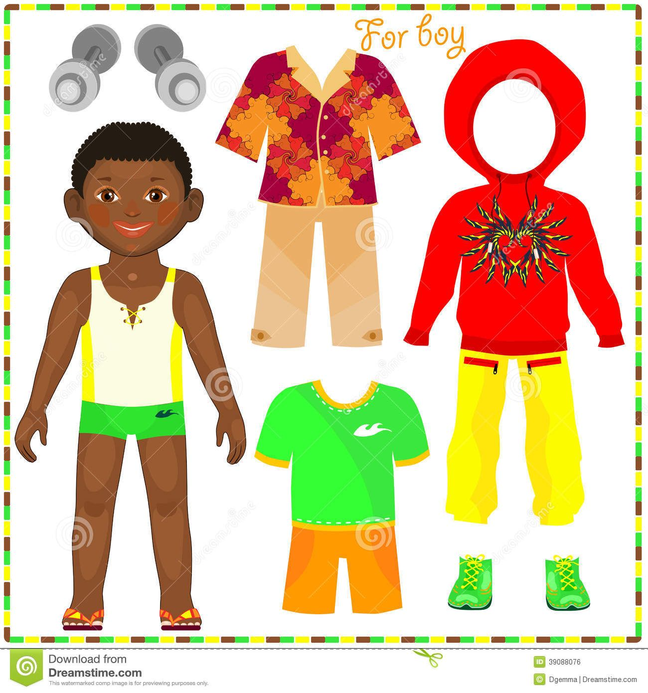 Paper Doll With A Set Of Fashionable Clothing Paper Dolls Paper