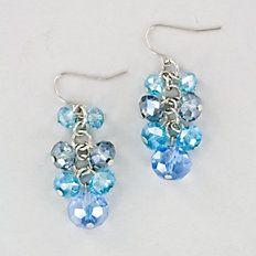 Blue Rhythm Cluster Earrings