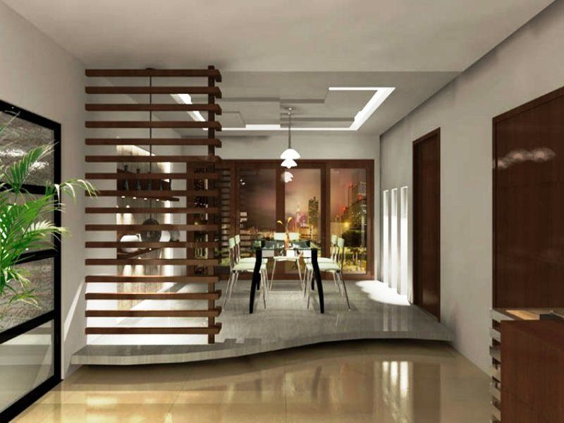 Modern minimalist dining room design - Brilliant solution with the ...