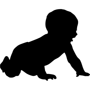 Pin By Sara Sliwinski On Svg Images Baby Silhouette Silhouette Clip Art Baby Clip Art