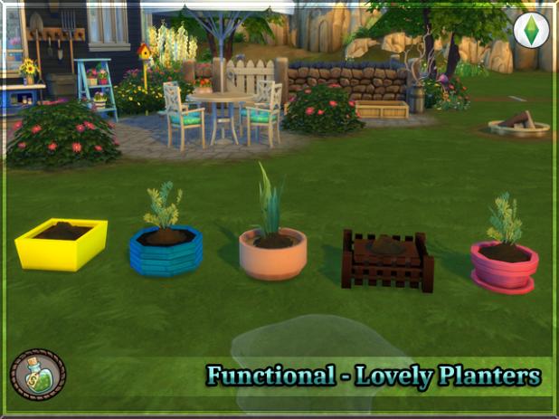 Sims 4 Garden Planter Box Cc