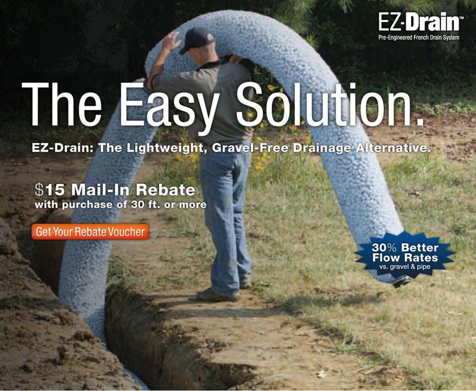 EZDrain solution vs. French drain with gravel | French ...