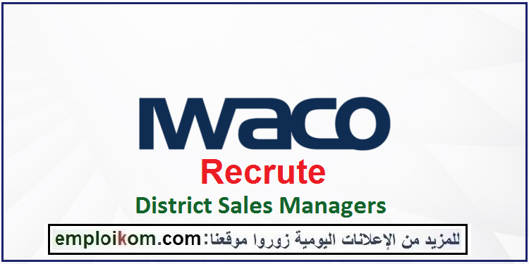 Pin By Karima Isamaili Idrisi On Emploi Maroc In 2021 Sales Manager Management Districts