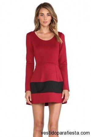 Vestidos de fiesta cortos color rojo con manga larga 2014 | Vestidos Para Fiestas 2014 https://vestidoparafiesta.com/vestidos-de-fiesta-cortos-color-rojo-con-manga-larga-2014/