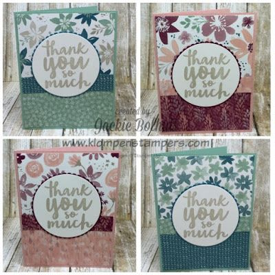 Stampin Up Blooms Bliss Dsp Easy Cards With Dsp Instructions