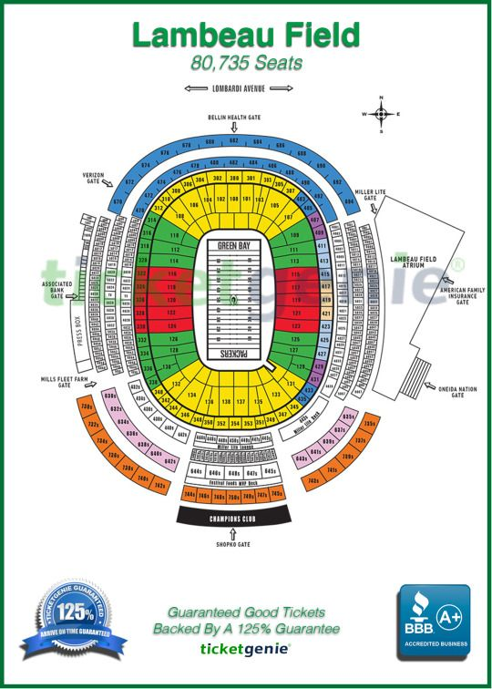 Officialticketgenie Lambeau Field The Incredibles Green Bay