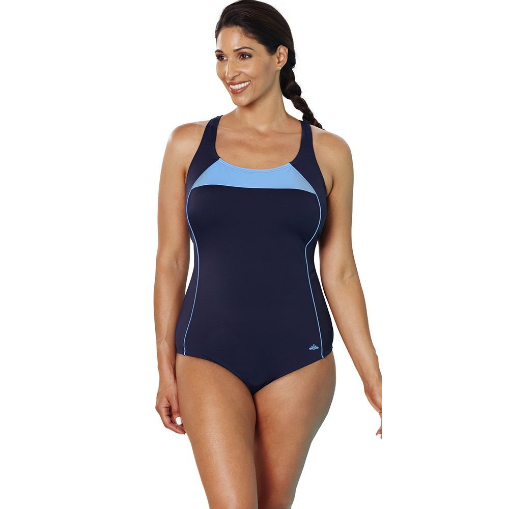 fc494c8e6b0 Aquabelle Xtra Life Cornflower Border Crossback Swimsuit. Aquabelle Xtra  Life Cornflower Border Crossback Swimsuit Swimsuits For ...