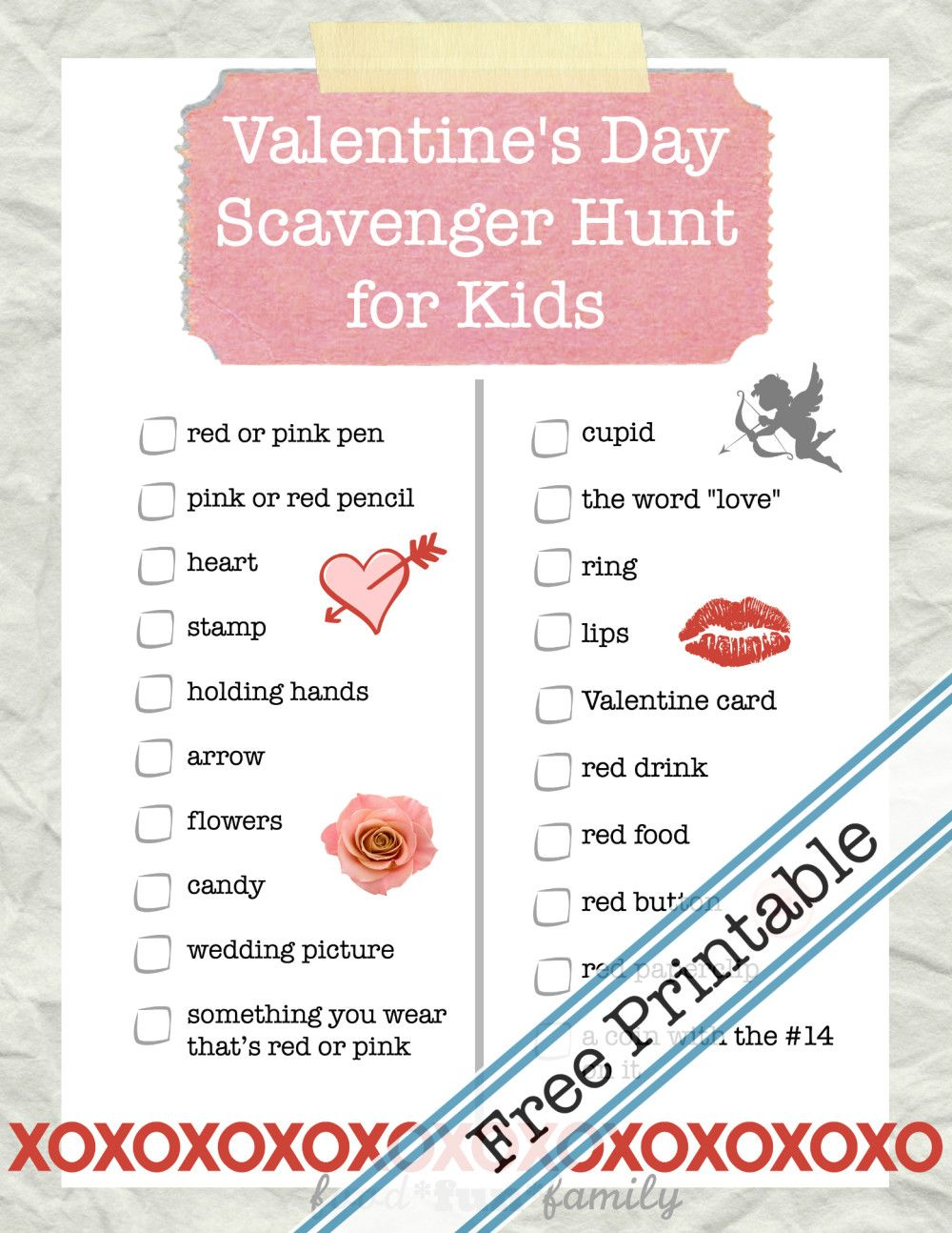 how to create a scavenger hunt with clues