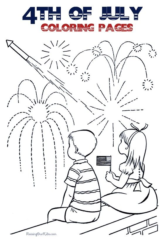 4th Of July Coloring Pages Free And Printable July Colors