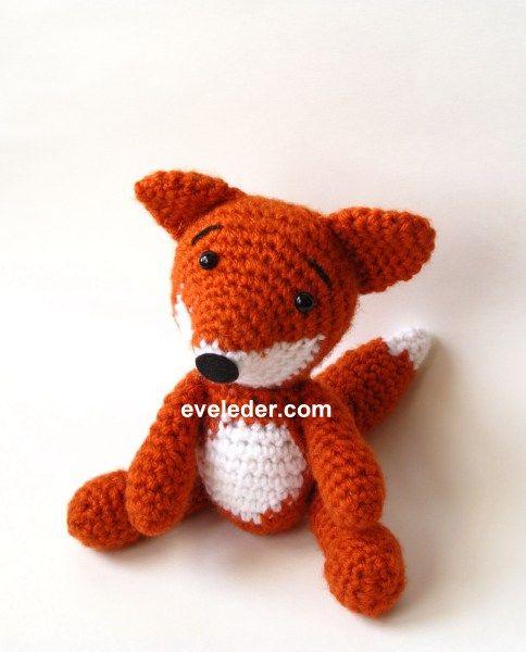 Amigurumi Pattern - Lisa The Fox | Узоры для вязания детских вещей ... | 600x484