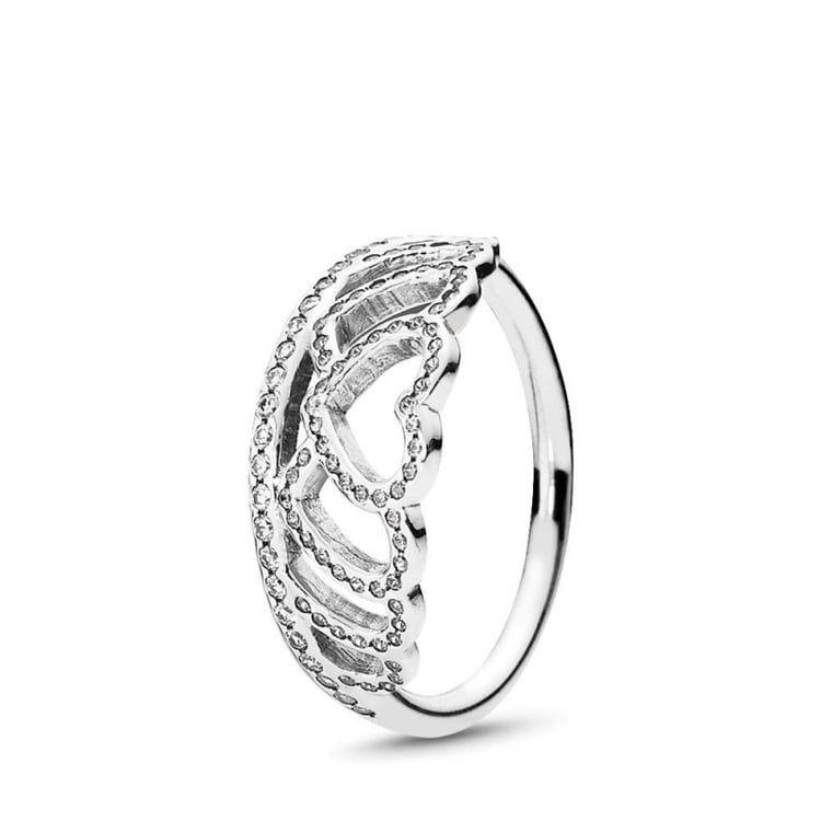 anello tiara pandora argento