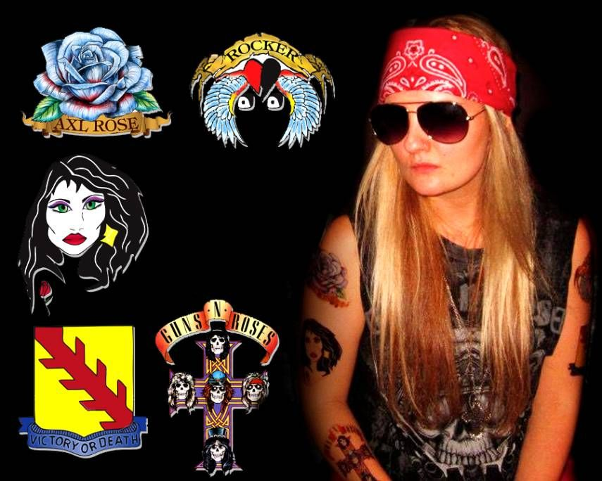 Axl roses tattoos