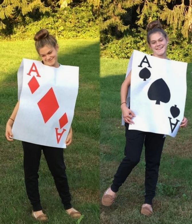 Easy Book Week Costumes For Teachers In 2021 Playing Card Costume Card Costume Alice In Wonderland Diy