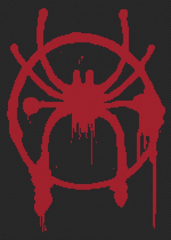 Miles Morales Spider Man Spider Verse Large Symbol Cross Etsy Miles Spiderman Miles Morales Spiderman Miles Morales