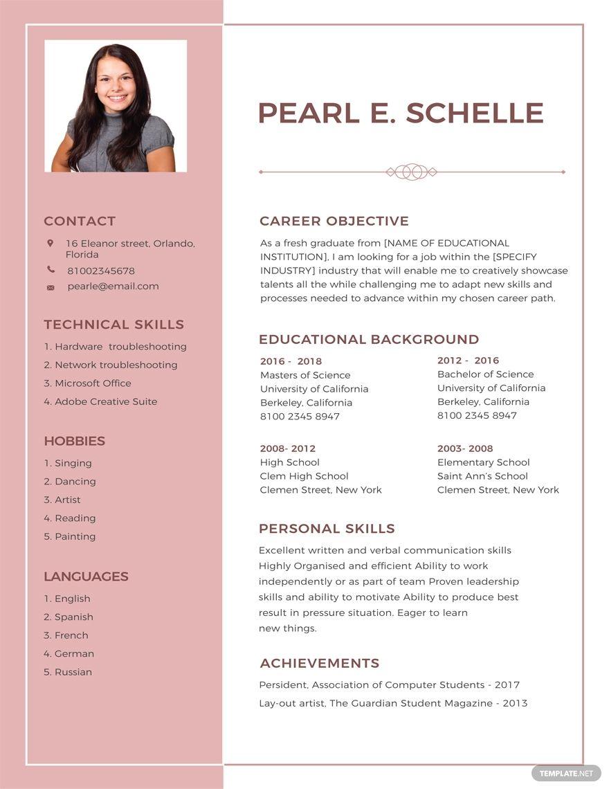 Free High School Resume High School Resume Template High School