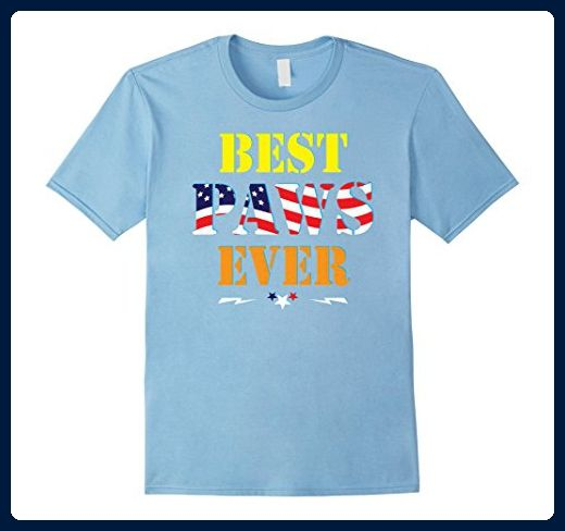 Mens Best Paws Ever Happy Independence Day US Flag T-Shirt Gift 3XL Baby Blue - Holiday and seasonal shirts (*Amazon Partner-Link)