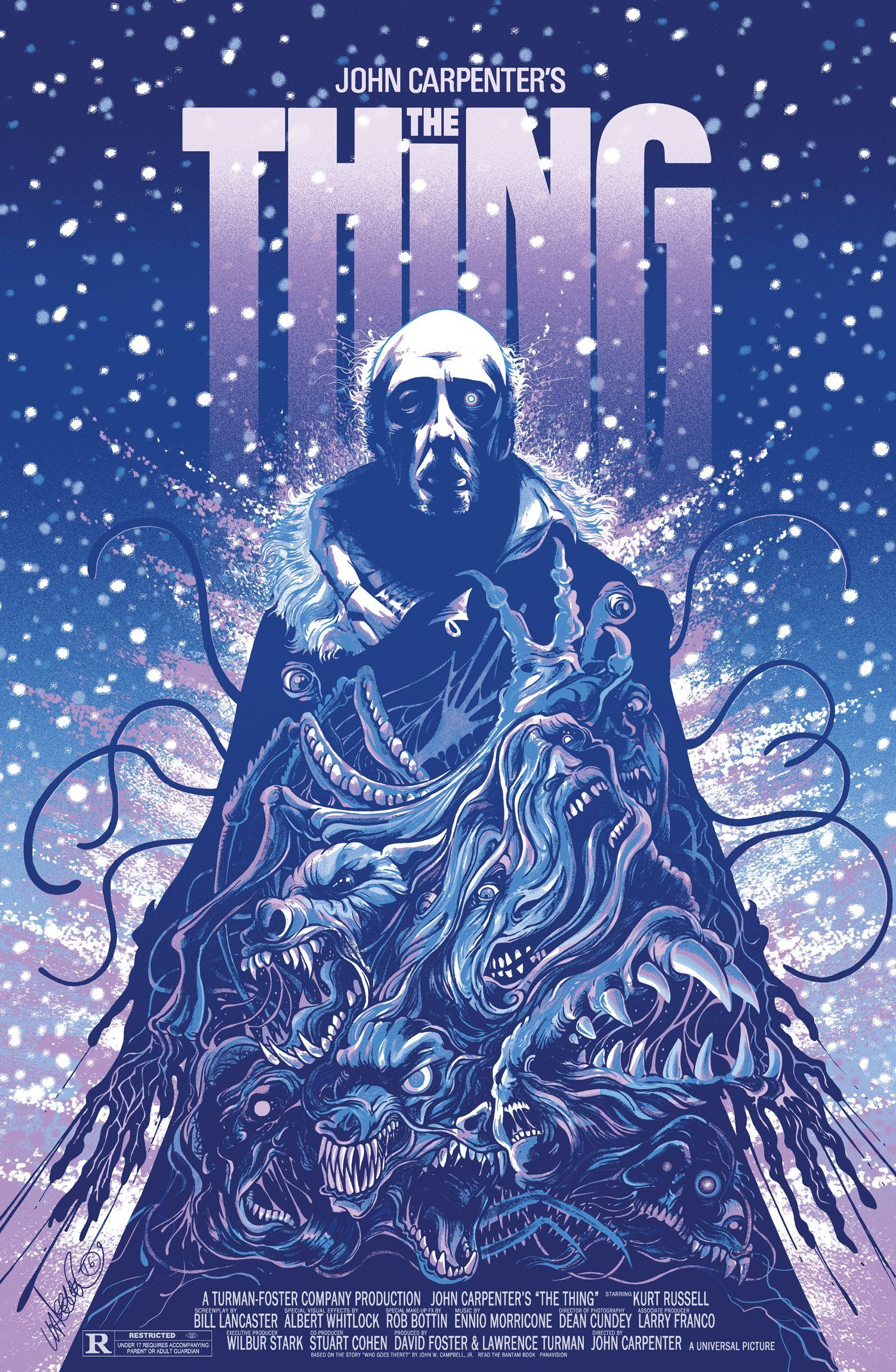 Poster The Thing From Another World Vintage Cult Sci-Fi Wall Art Print
