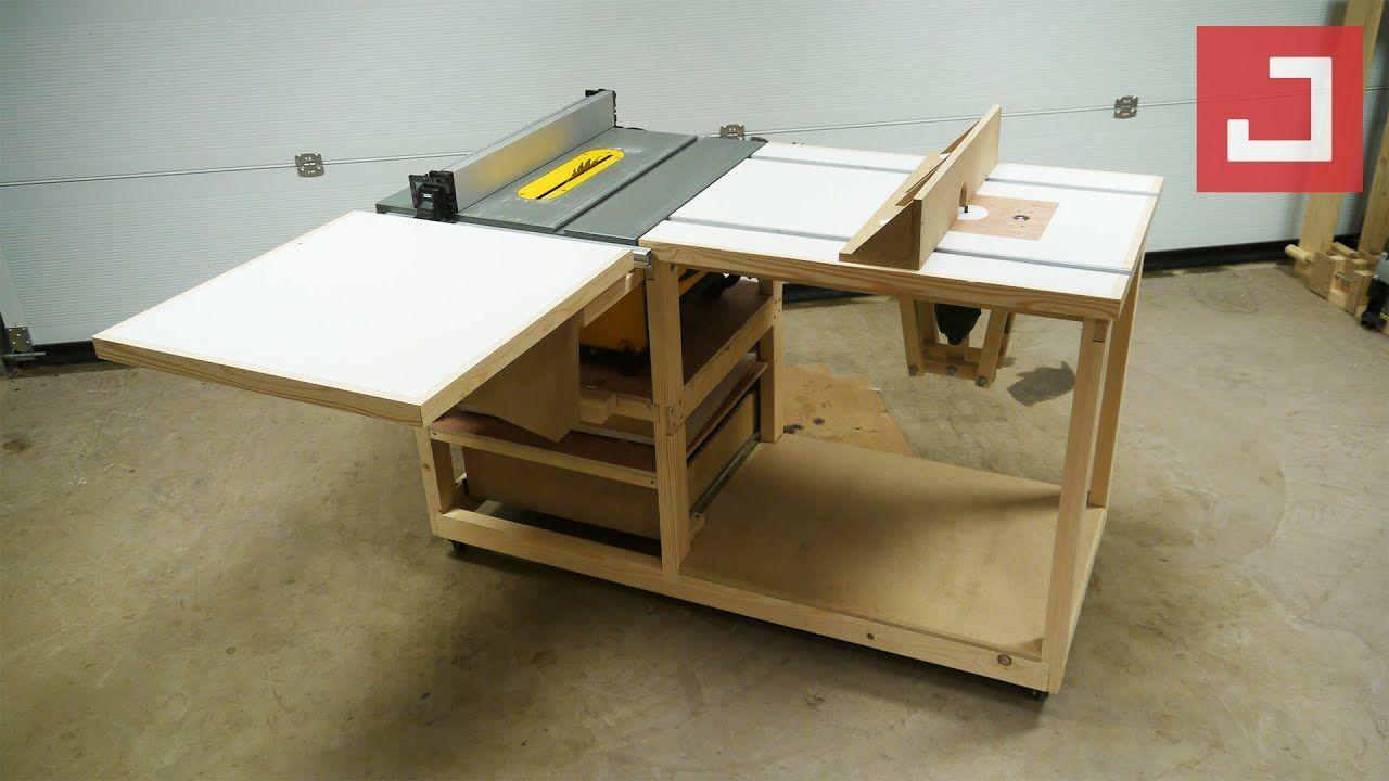 Fabrication D Un Etabli Mobile Polyvalent Ep03 Bosch Pof 1200 Etabli Mobile Table De Travail En Bois Table Defonceuse