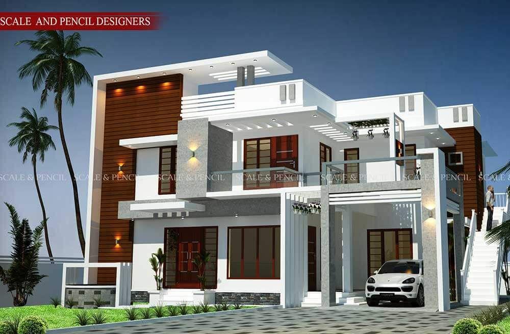 Unique Modern 3d Home Design New Model House Kerala House Design Duplex House Design