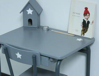 Relooking d un bureau pour enfant en bois déco chambre alistair
