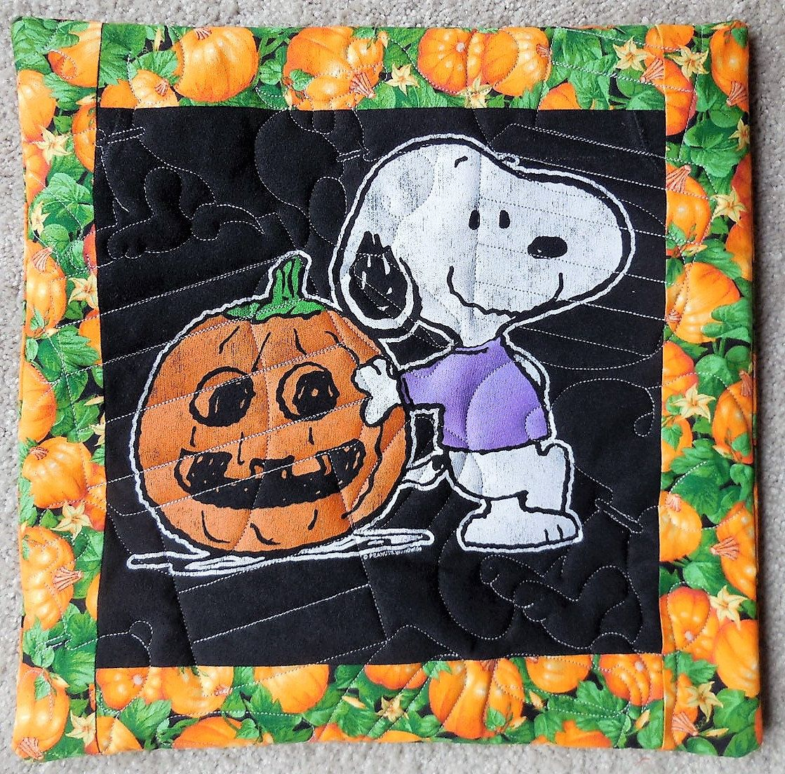Snoopy and the great pumpkin peanuts pillow cover x inch