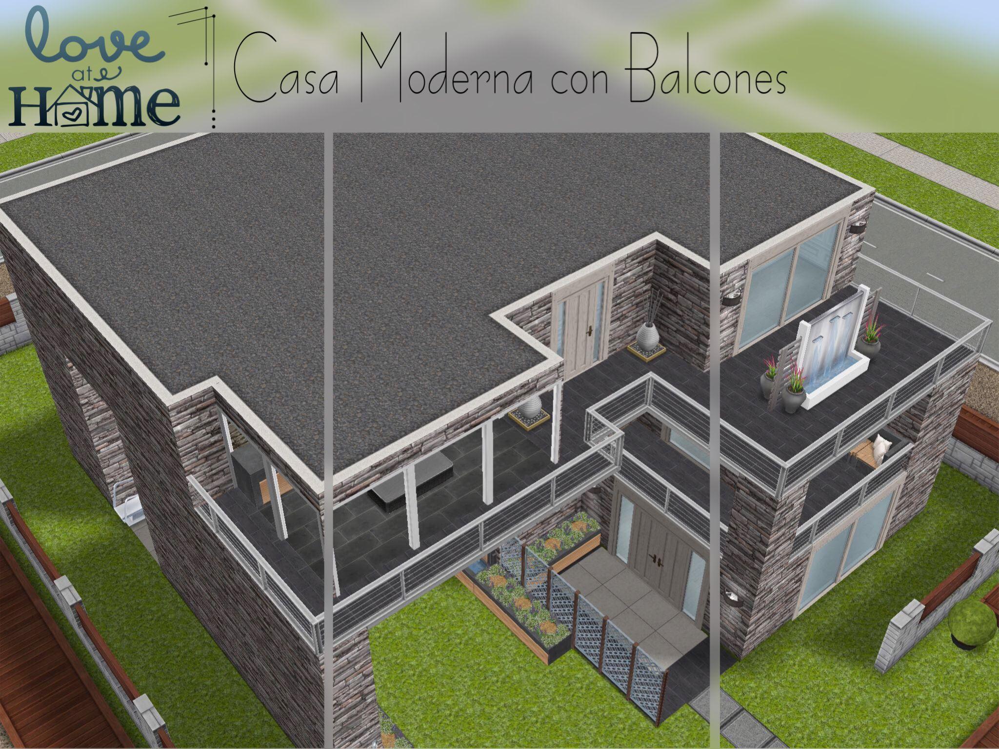 Casa Moderna Con Balcones The Sims Freeplay Casa Sims Sims