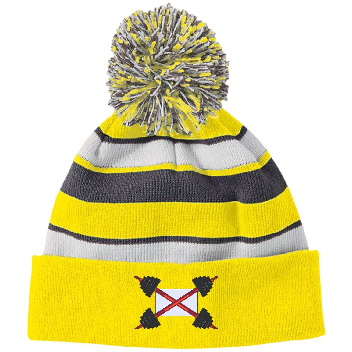 aad4d05e6f4 volkswagen vw hat 223835 Holloway Striped Beanie with Pom