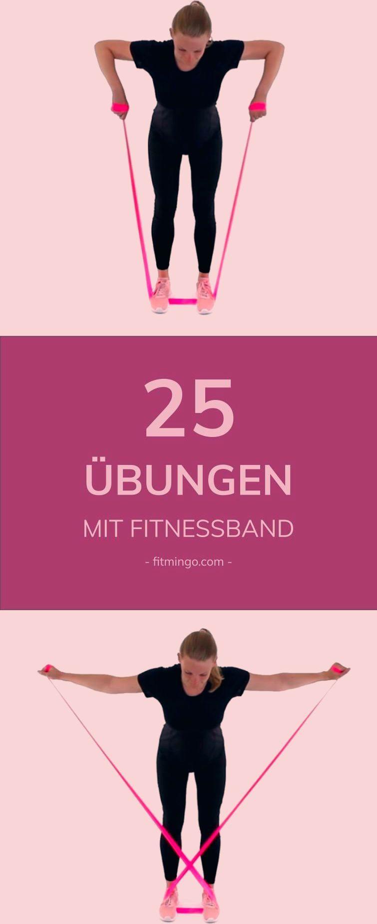 Nur mit einem Fitnessband, kannst du deinen ganzen Körper trainieren. Bei uns findest du Übungen für...