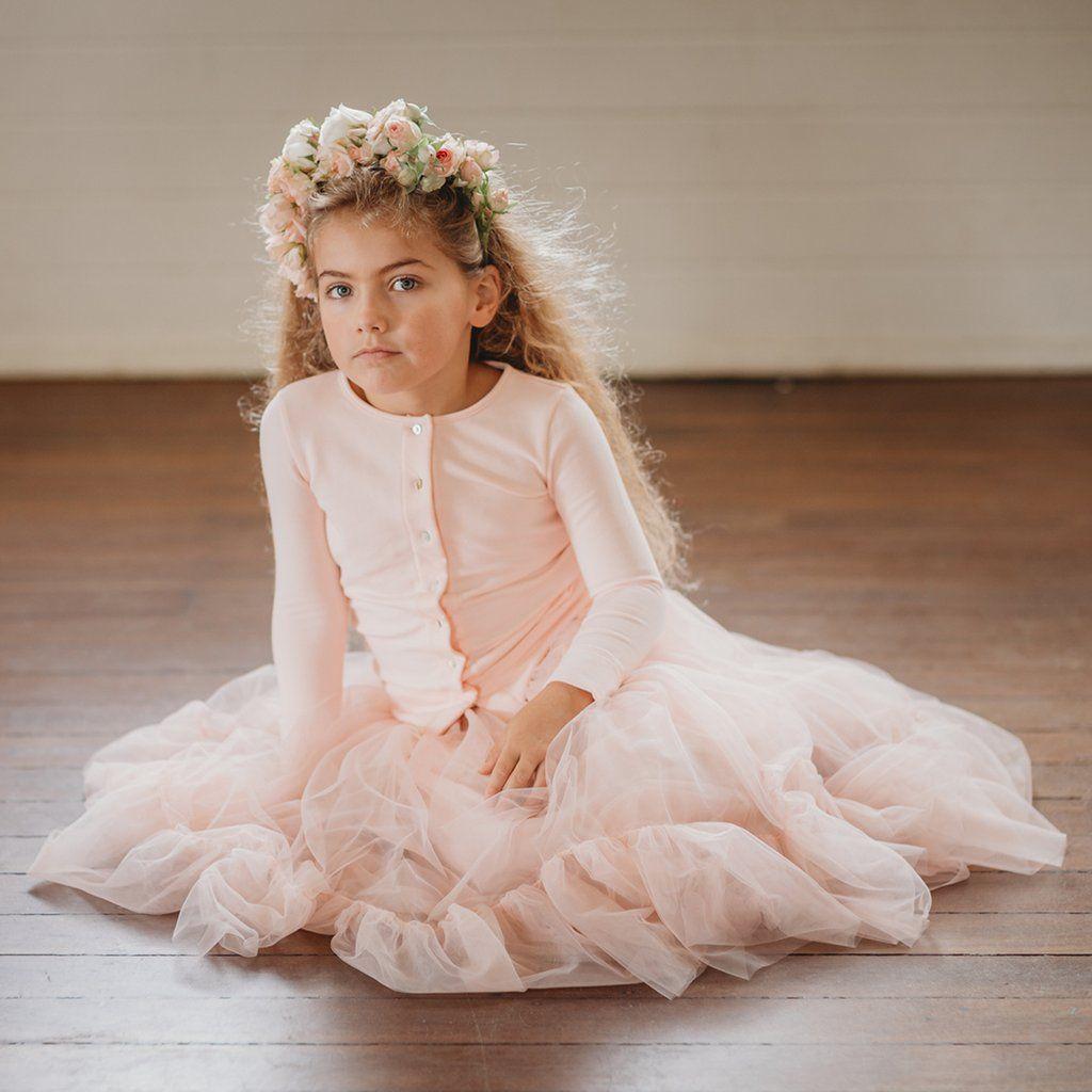 Ballet pink little girls tutu skirt free shipping