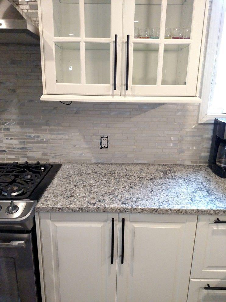 Himalayan Moon Quartz Caesarstone White Cabinets Oil Rubbed Bronze Pulls Kitchen Cabinet Handles