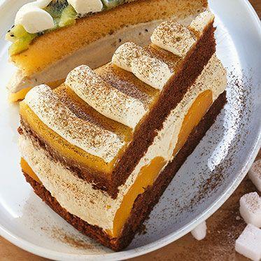 Cappuccino-Pfirsich-Torte