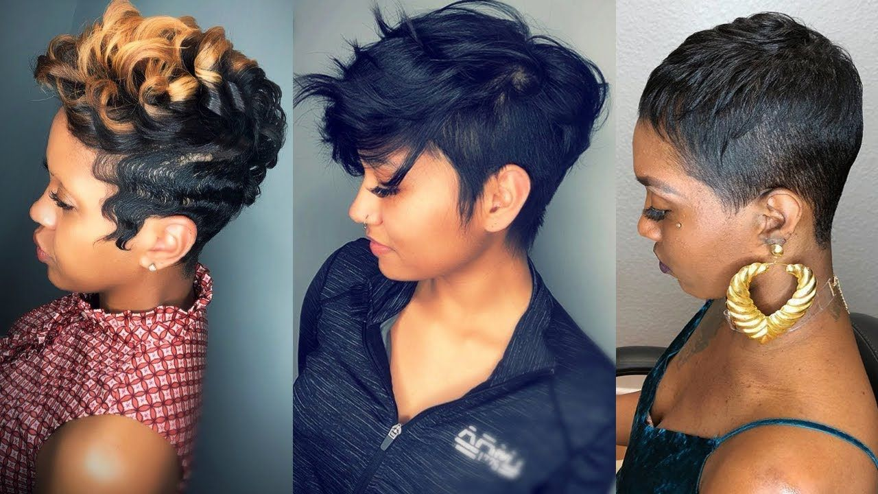 Short Haircuts And Hairstyles In 2019 For Black Women Short Hairstyles Short Hair Styles African American Black Haircut Styles Black Women Short Hairstyles