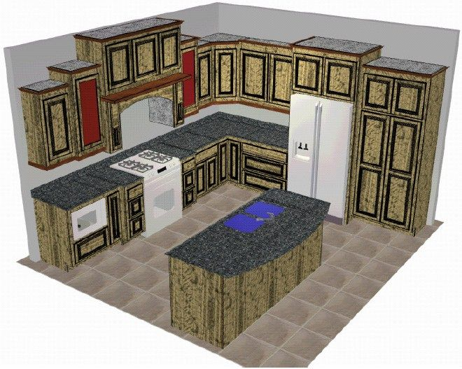 Open Floor Plan Kitchen | Open floor plan – kitchen, dining, living ...