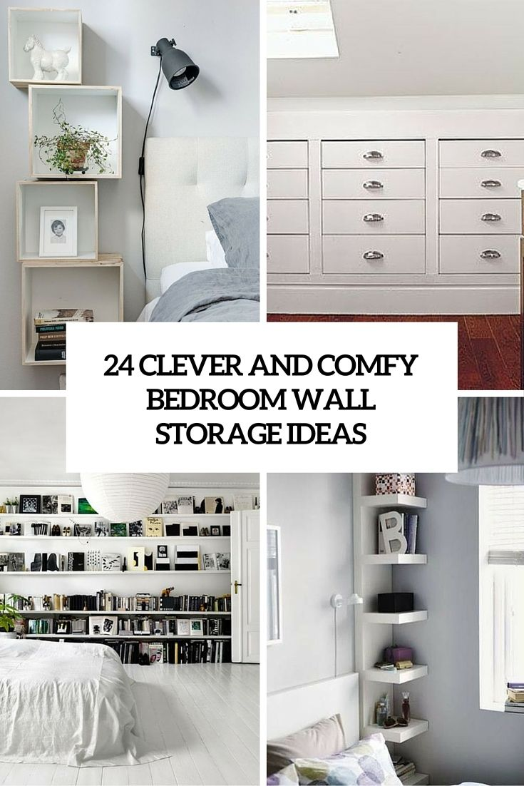 Clever Storage Ideas For The Bedroom | Home Sweet Home | Pinterest ...