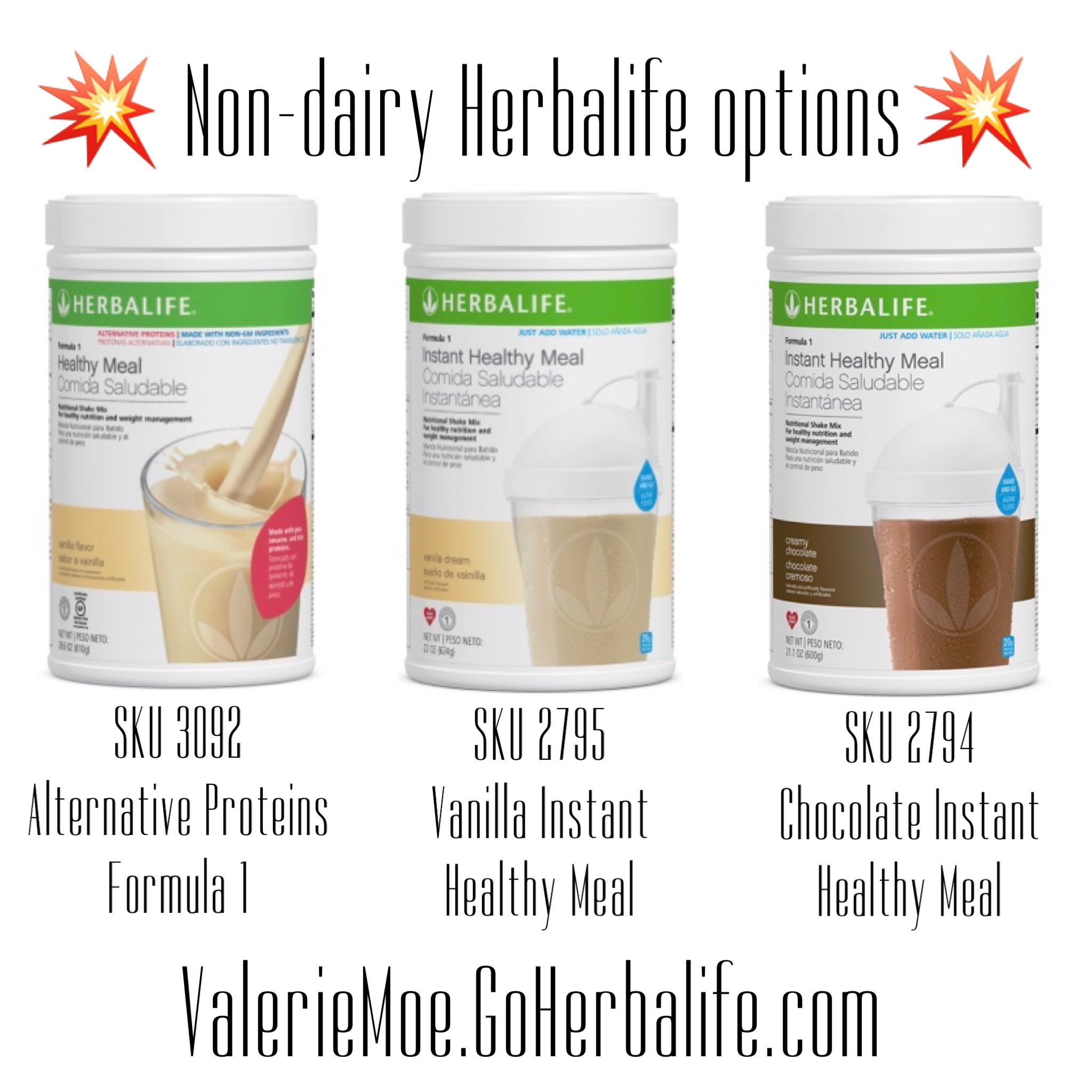 Non Dairy Herbalife Options For Those Who Can T Have Or Don T Want Milk Based Protein In Their Shakes Visit Vale Herbalife Herbalife Shake Herbalife Recipes