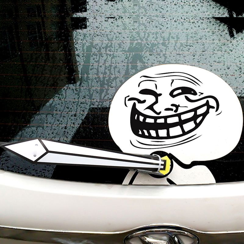 Funny Expression Rage Comic Car's Sticker