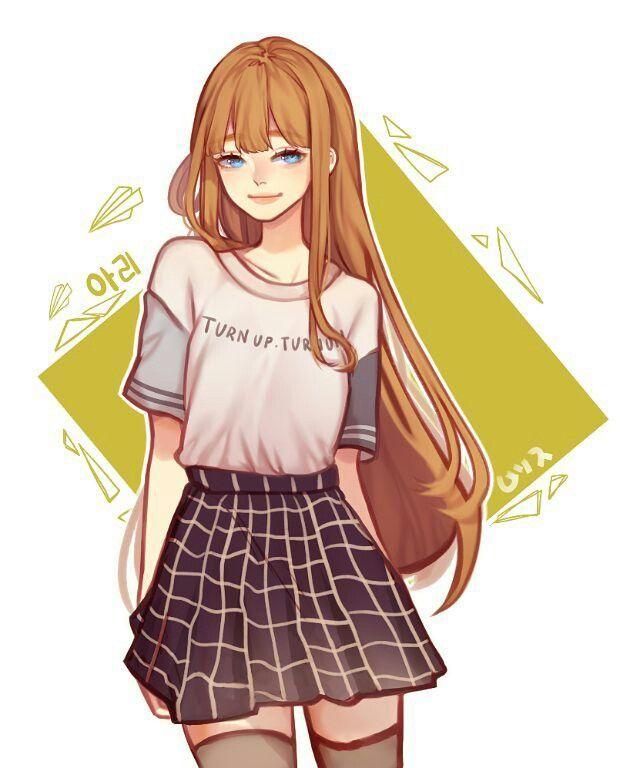 For that Anime girl orange hair