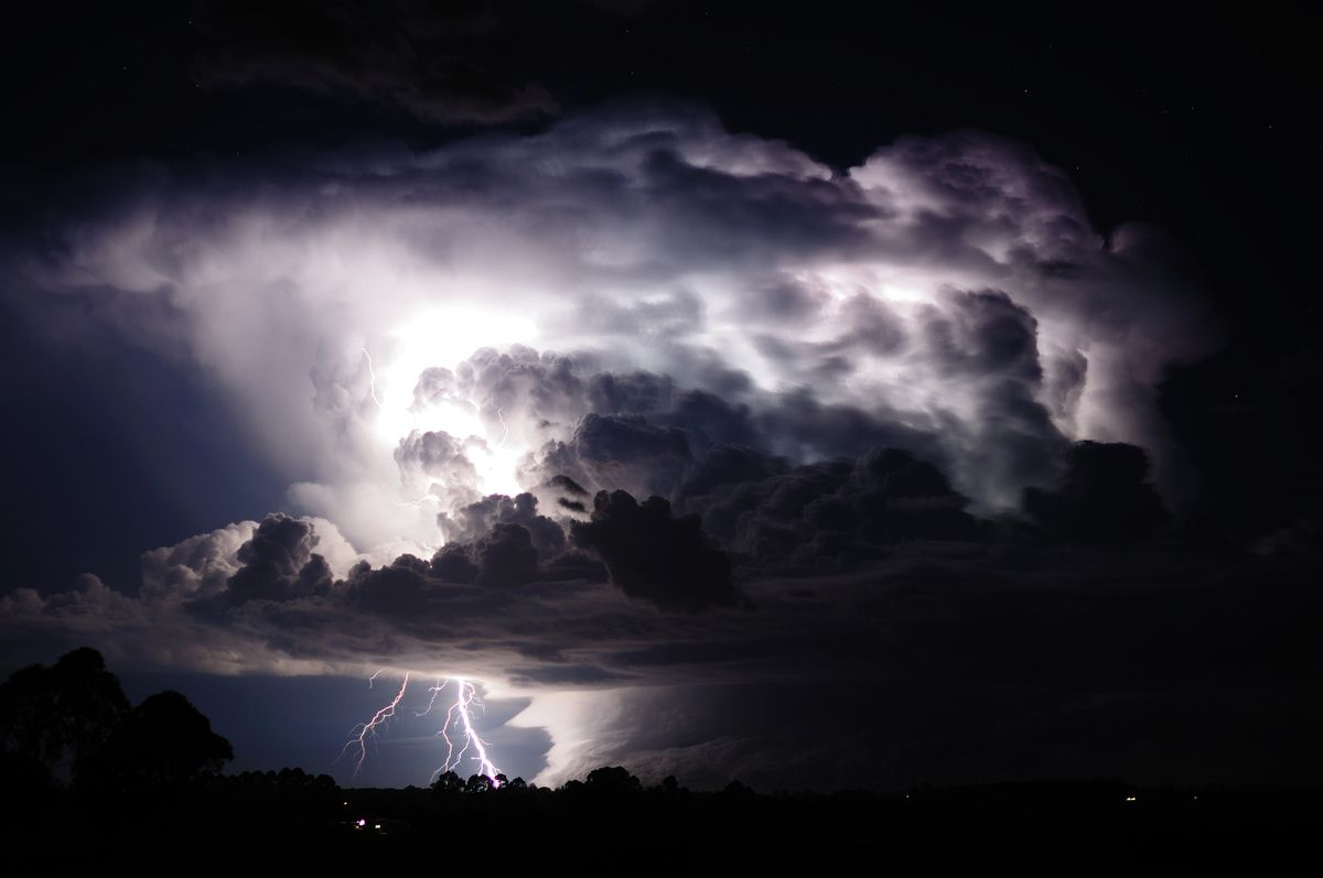 storms cloud with lightening boom lightning strikes