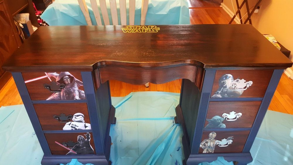Turn an Old Desk into a Child's Dream Work Space http://www.hometalk.com/21543447/old-auction-desk-turned-into-boys-ultimate-star-wars-desk?se=fol_new-20160912-1&date=20160912&slg=4b392f94c7f25248bb3b5e0c6ccdaf70-1110481