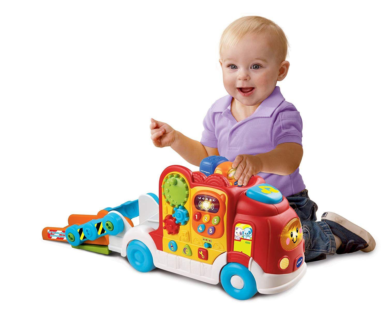 Vtech Baby 80 136604 Tut Tut Baby Flitzer Autotransporter Bunter Autotransporter Aus Der Tut Tut Baby Flitzer Serie Kann Bis Zu 6 Tut Tut Baby Flitzer Trans