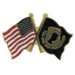 Us And Pow Mia Flag Lapel Pin Flag Lapel Pins Lapel Pins Hat Pins