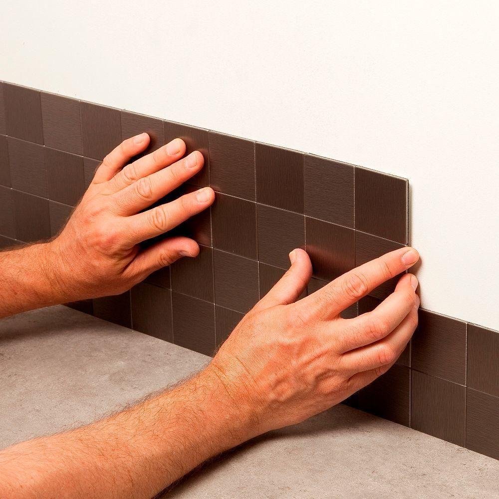 Metal Decorative Tiles Aspect Square Matted 12 Inx 4 Inmetal Decorative Tile