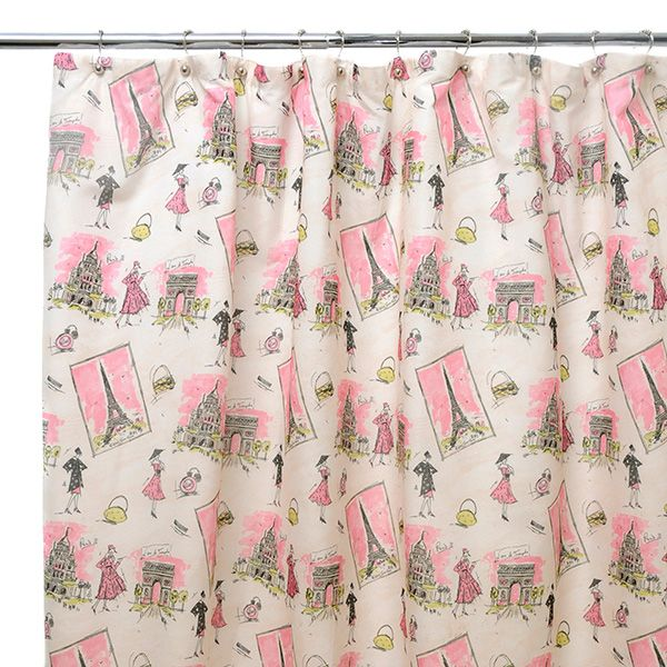 Waverly By Famous Home Fashions Tres Chic Shower Curtain