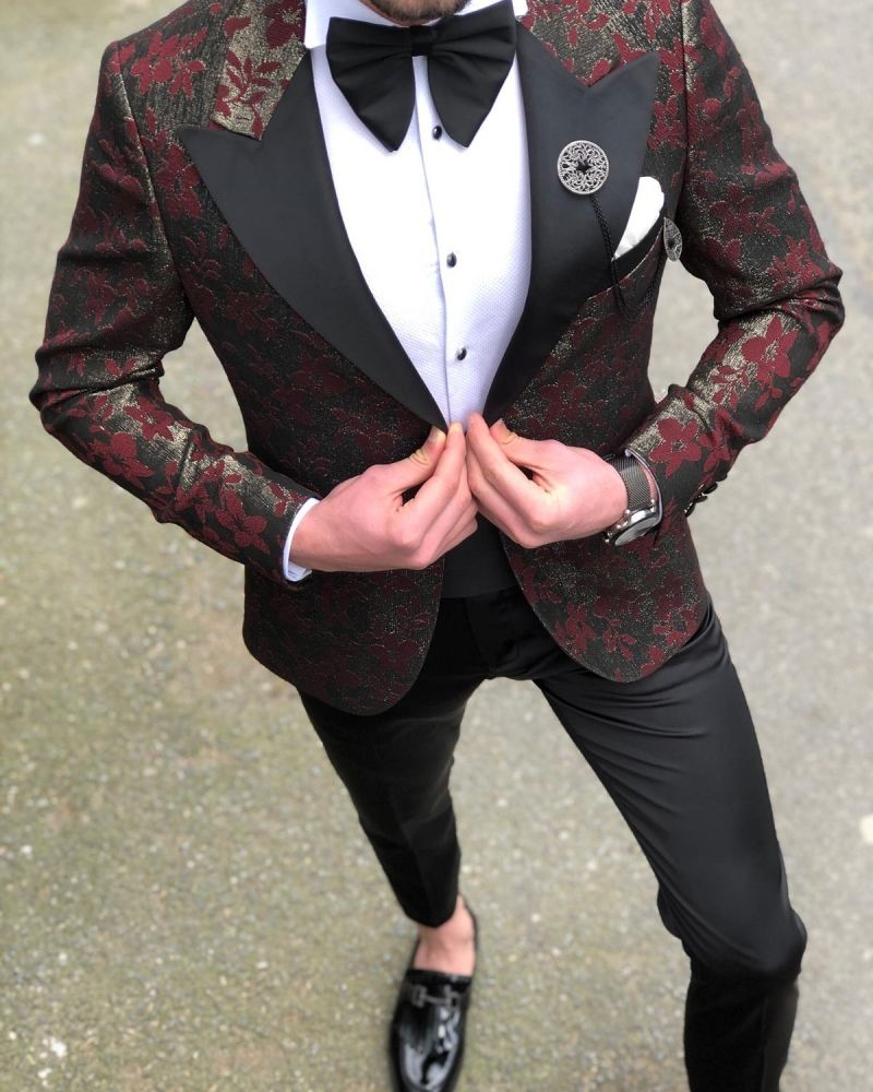 c24b464277781 Fitore Claret Red Slim Fit Tuxedo in 2019 | Gent With - Shop The ...