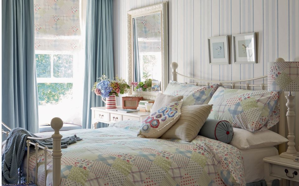 Hadley Stripe Seaspray Blue Wallpaper at Laura Ashley