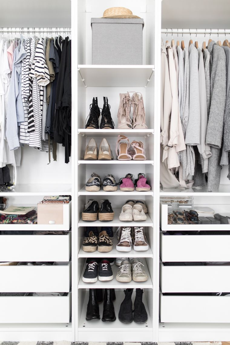 mein ikea pax kleiderschrank | shoe collection | pax wardrobe, ikea