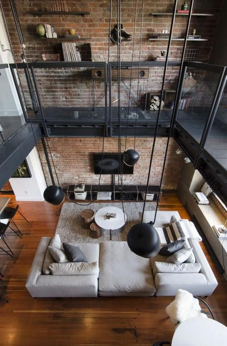 48 Amazing Loft Living Room Ideas Industrial Interior Design Living Room Loft Loft Interiors