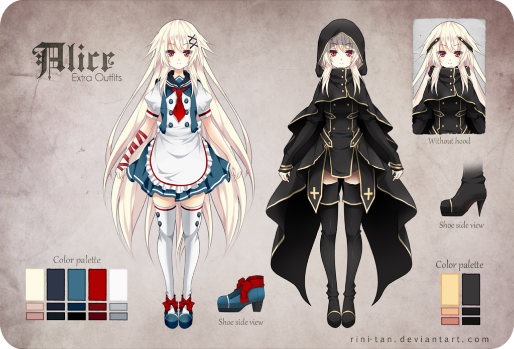 Character Design Dress Up Game : Cool anime girl outfits alice extra by bilder