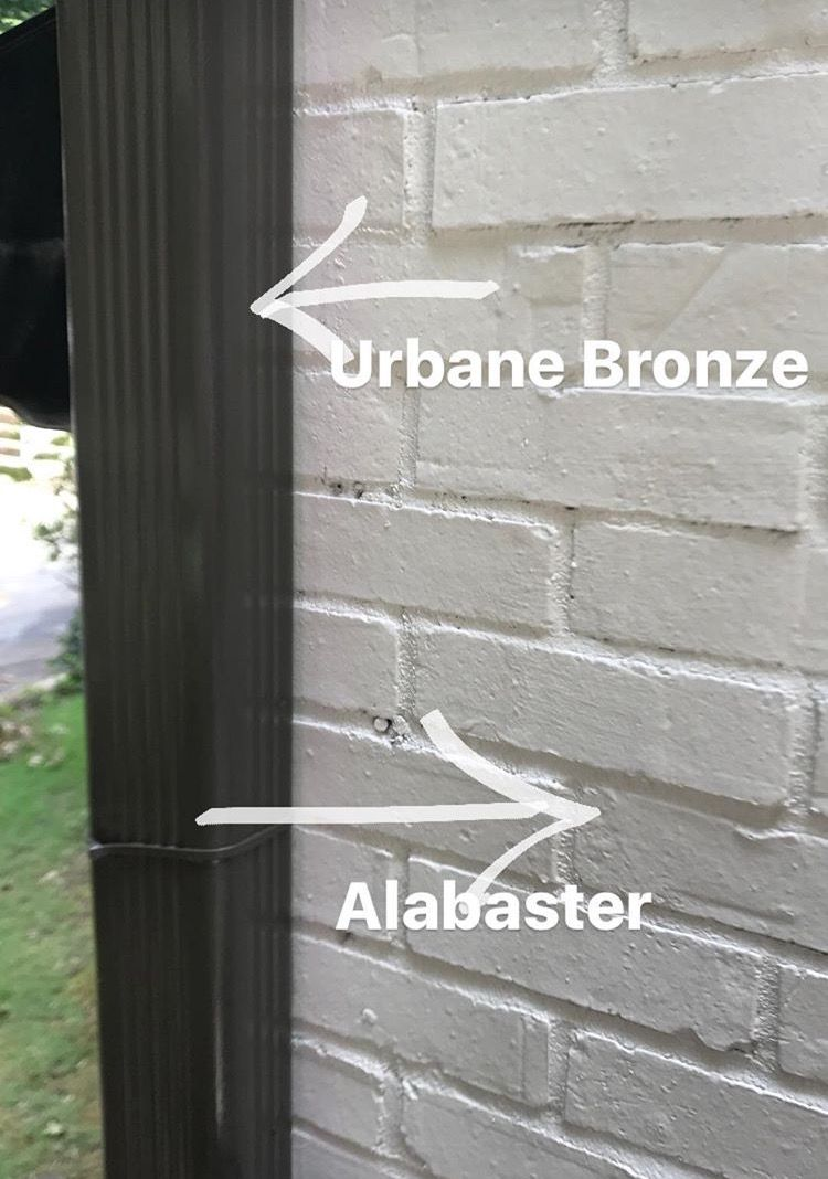 Urbane Bronze And Alabaster Paint Colors House Paint Exterior Painted Brick Exteriors Exterior Paint Colors For House